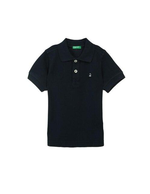 Playera tipo polo lisa Benetton algodón para niño 2e5f34edbdf93