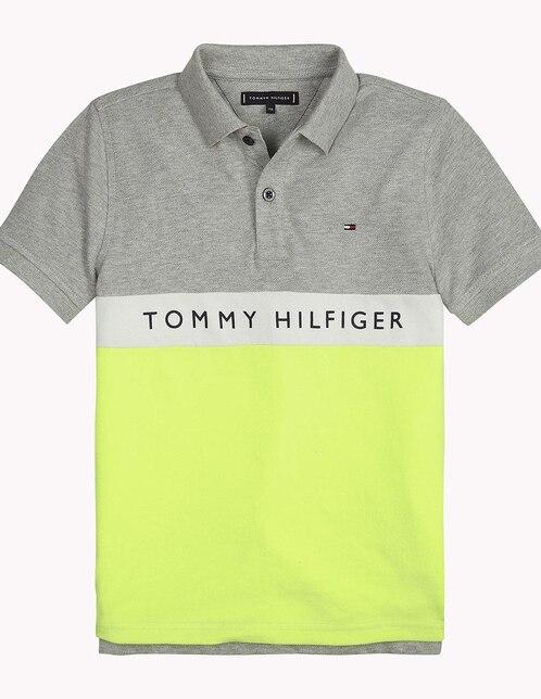6dc09b6f9424c Playera tipo polo Tommy Hilfiger algodón para niño