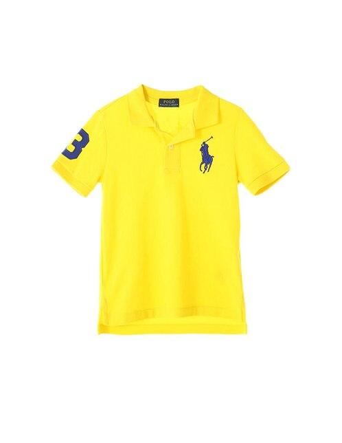 Playera lisa Polo Ralph Lauren algodón para niño b796096e6f0