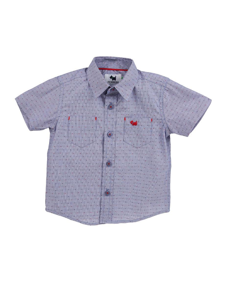 f685e34ca573f Camisa con diseño gráfico Ferrioni de algodón para niño