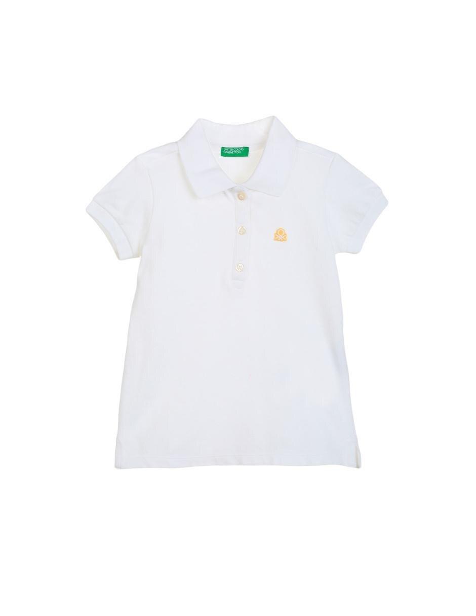 23dc03741 Playera tipo polo lisa Benetton algodón para niña