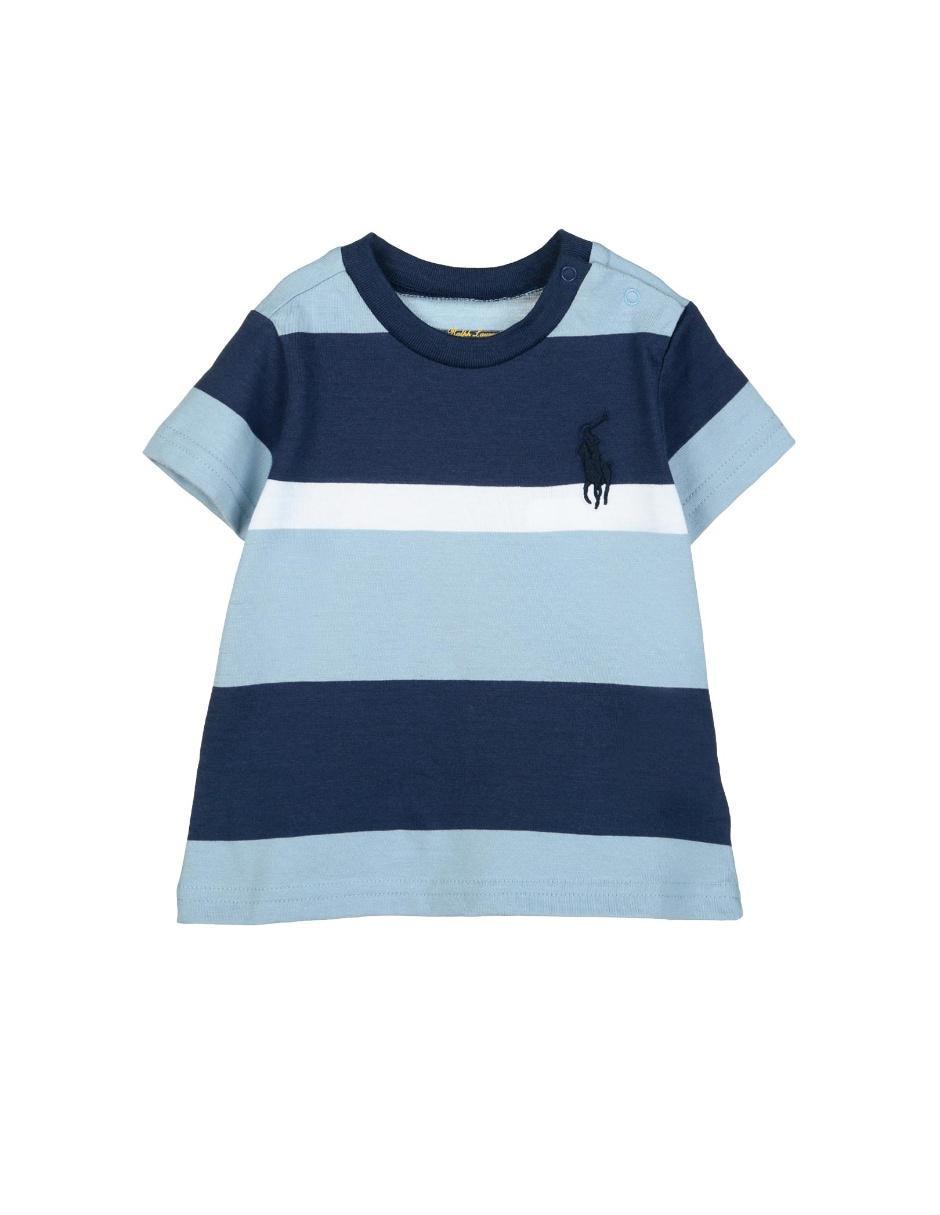cf44277c3466a Playera a rayas Polo Ralph Lauren algodón para bebé