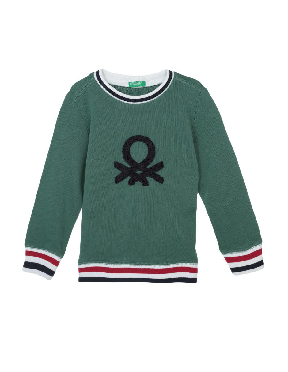 fecha de lanzamiento: 3f325 7c353 Sudadera lisa Benetton algodón para niño