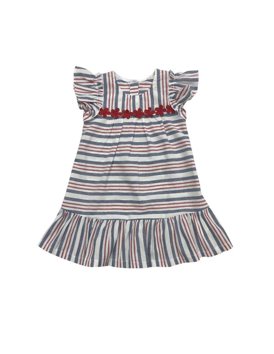 877c1051ef Vestido a rayas Fiorella para niña