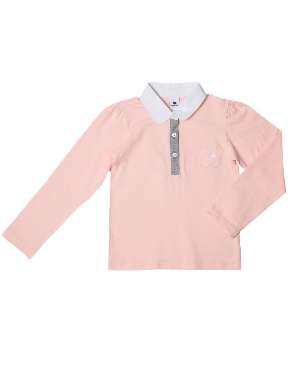 d91ecc0a0d82c Playera tipo polo Ferrioni algodón para niña